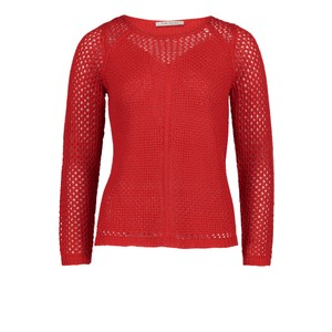 Betty Barclay Red Chunky knit jumper