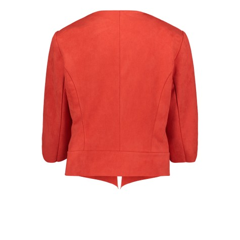 Betty Barclay Hibiscus Red Blazer Jacket With a Cowl Neckline