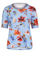 Betty Barclay Blue/Red Basic T-shirt With a Floral Print
