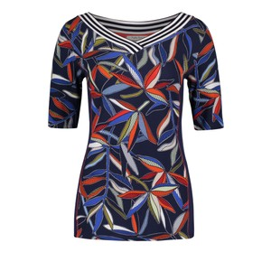 Betty Barclay Dark Blue/Red Basic T-shirt With a V-neckline