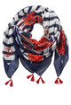 Betty Barclay Dark Blue/White Scarf With a Floral Print