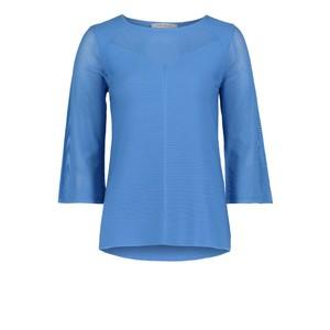 Betty Barclay Blue Knit jumper with a Bateau Neckline