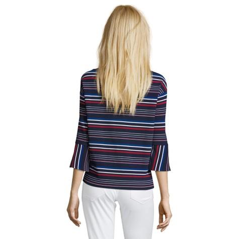 Betty Barclay Dark Blue/Red Sweatshirt with Stripes