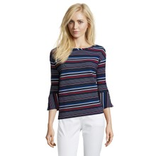 Betty Barclay Dark Blue/Red Sweatshirt with Stripes