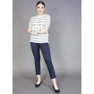 Twist Silver & Off White Stripe Top