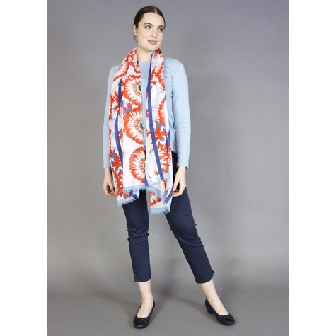 Best Angel Rouge & Yellow Floral Print Scarf