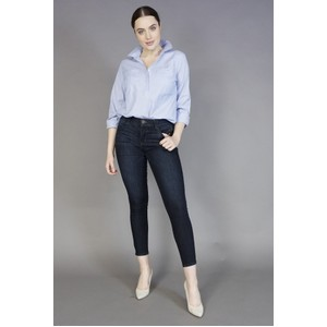 Twist Blue & White Stripe Daisy Shirt