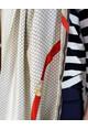 Pamela Scott Cream Chain Detail Scarf