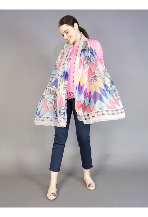 Best Angel Geometric Colourful Pattern Print Scarf