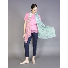 Best Angel Green Stripe Pattern Scarf