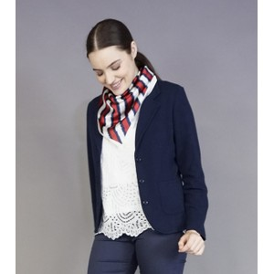 Best Angel Red, Navy & Cream Stripe Neck Scarf