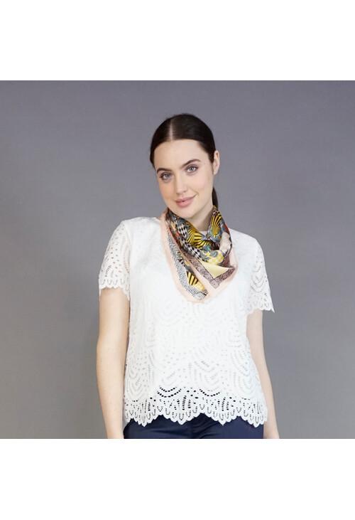 Best Angel Rose & Gold Oriental Pattern Neck Scarf