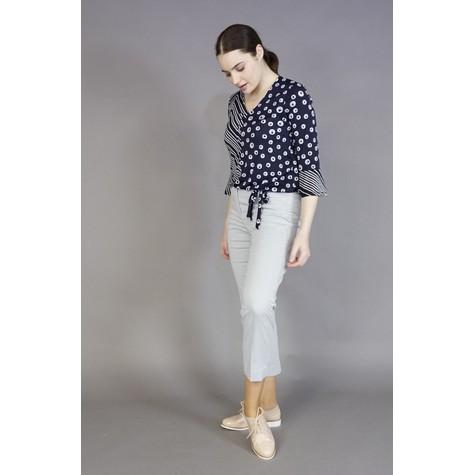 SophieB Navy & White Stripe & Circular Print Blouse