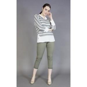 SophieB Khaki Stripe 2 in 1 Knit
