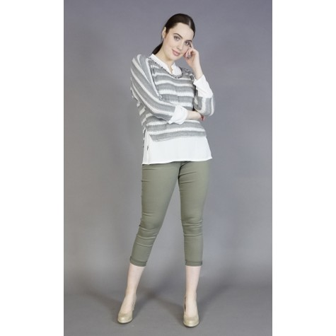SophieB Khaki Stripe 2 in 1 Knit
