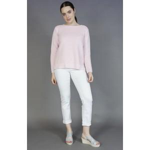 Twist Soft Pink Ripple Button Detail knit