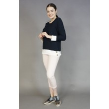 Twist Navy White Trim Knit