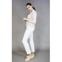 Twist White 5 Pocket Jeans
