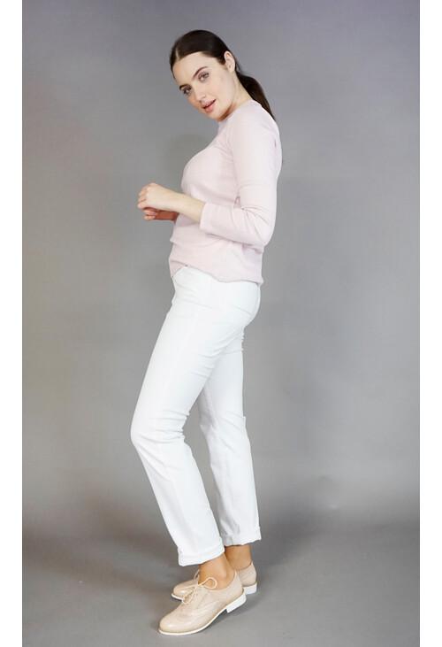 Twist White 5 Pocket Jeans