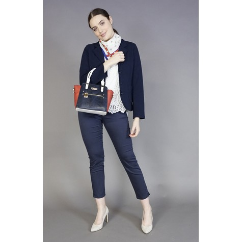 Hampton Navy & Red Winged Handbag