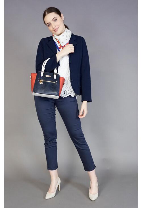 Hampton Navy & Red Winged Handbag
