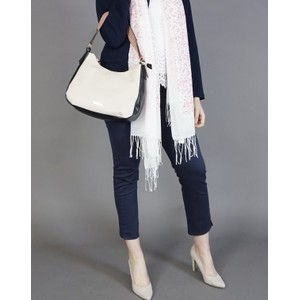 Hampton Nude & Navy Soft Top Handbag