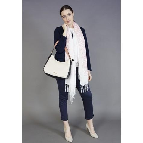 Hampton Nude & Navy Soft Top Handbag