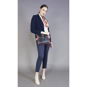 Hampton Navy & Red Panel Cross Body Bag