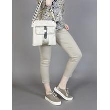 Pamela Scott Cream & Bronze Three Tone Handbag