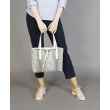 Gionni White Python Print Handbag