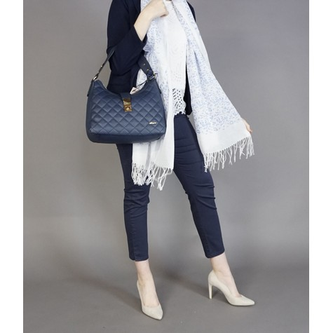 Hampton Navy Quilted Handbag