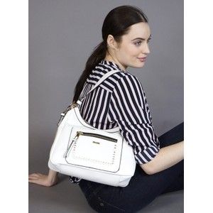 Gionni White Accessory Hobo Bag