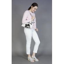Pamela Scott Grey Butterfly Accessory Handbag