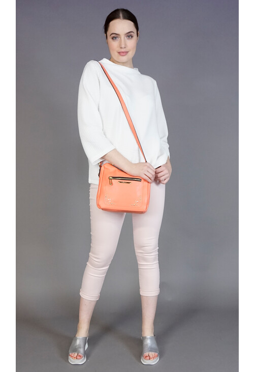 Gionni Coral Gold Stud Accessory Bag