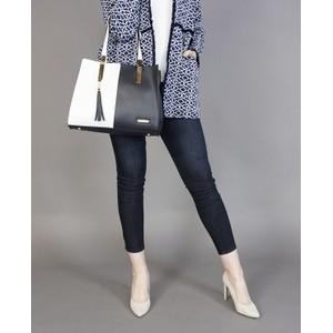 Hampton Navy & White Dual Colour Handbag