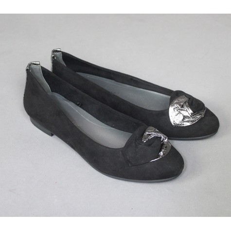 Marco Tozzi Black Ribbon Detail Flats