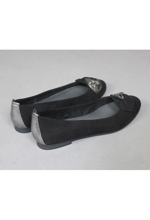 Marco Tozzi Black Ribbon Detail Flats