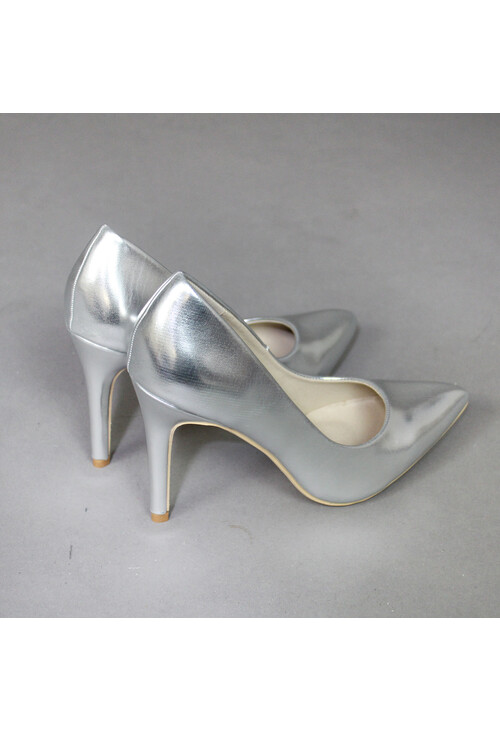 Lunar Silver Chrome Heels