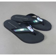 Tommy Hilfiger Midnight & Silver Flat Beach Sandals