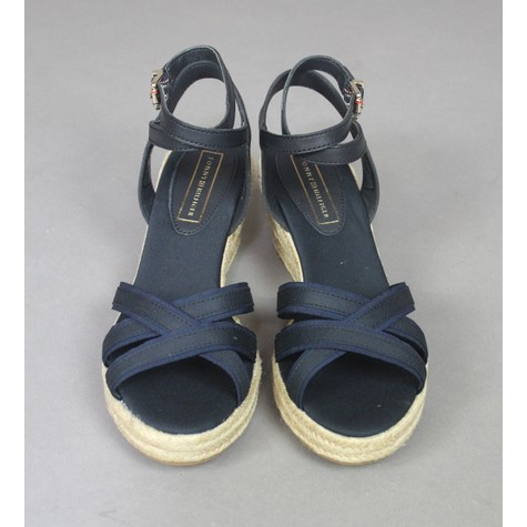 Tommy Hilfiger Midnight Ribbon Wedge Heels