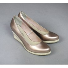 Marco Tozzi Rose Metallic Wedges