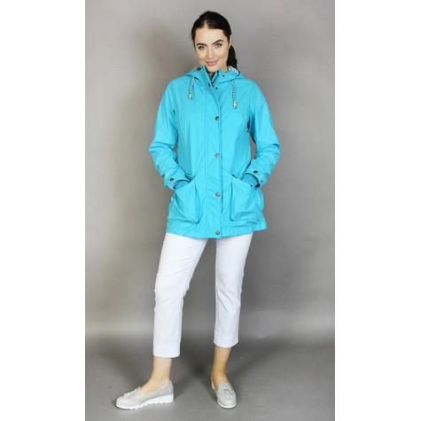 Pamela Scott Turquoise Rain Coat