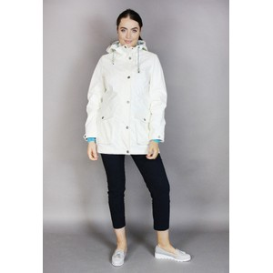 Pamela Scott Off White Rain Coat