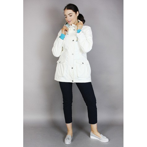 Pamela Scott Off White Rain Coat