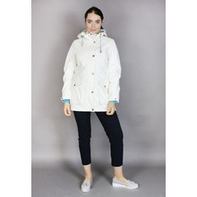 Pamela Scott Off White Light Weight Rain Coat
