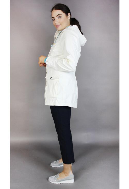 Pamela Scott Off White Light Weight Rain Coat