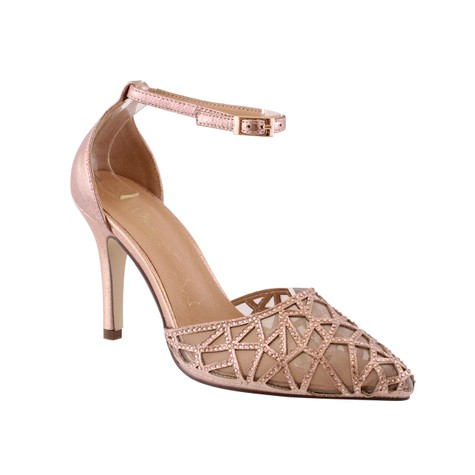 Barino Rose Gold Ankle Mid Heel Shoe