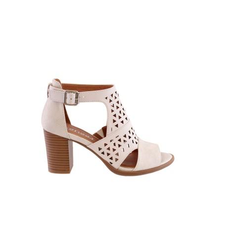 Susst Off White Trendy High-Top Block Heel