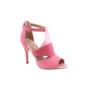 Susst Soft Pink Suede Effect Peep Toe Shoe