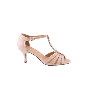 5a1d43de391 Barino Kitten Heel Rose Gold T Strap Jewel Front Shoe
